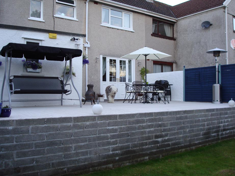 Patio extension finished